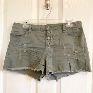 Khaki green shorts, Angel Kiss. Sz 11